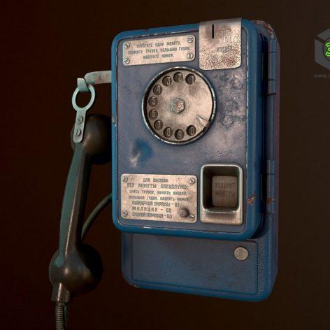 Payphone (max, fbx, obj) 3d model 045 (3ddanlod.ir)