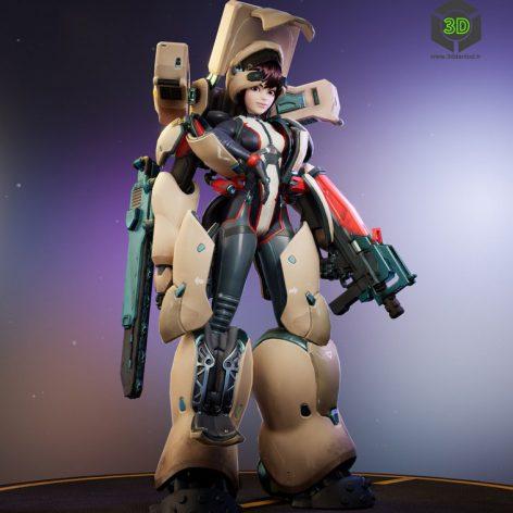 Power armor girl 030 (3ddanlod.ir)