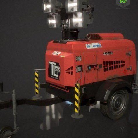 Rescue 911 Lighting Tower – 3D Model (3ddanlod.ir)