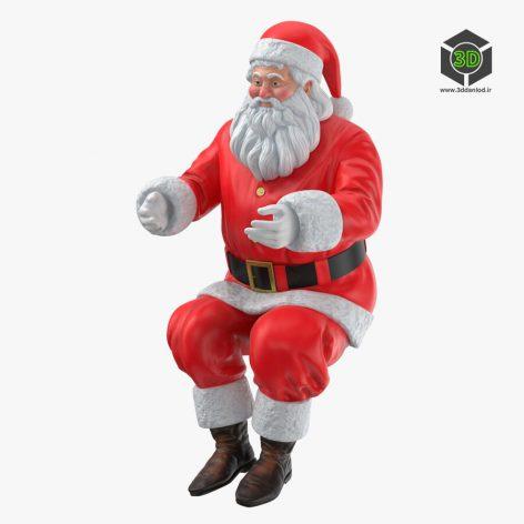 Santa Claus Pose 03 3d model 003 (3ddanlod.ir)