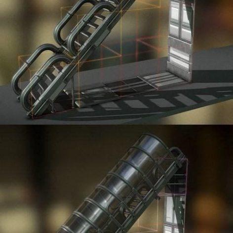 Sci-Fi Staris Basic Version 3D Model (3ddanlod.ir)
