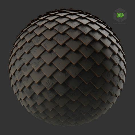 Stylized Diamond Slate Roof Tiles (3ddanlod.ir)