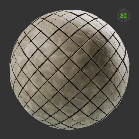 Stylized Diamond Stone Pavement (3ddanlod.ir)