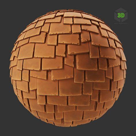 Stylized Endshake Terracotta Roof Tiles (3ddanlod.ir)