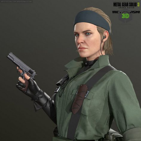 The Boss from Metal Gear Solid 3 Snake Eater 026 (3ddanlod.ir)