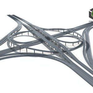 Turbosquid - Highway Road Viaduct Flyover-10 3D model 002 (3ddanlod.ir)