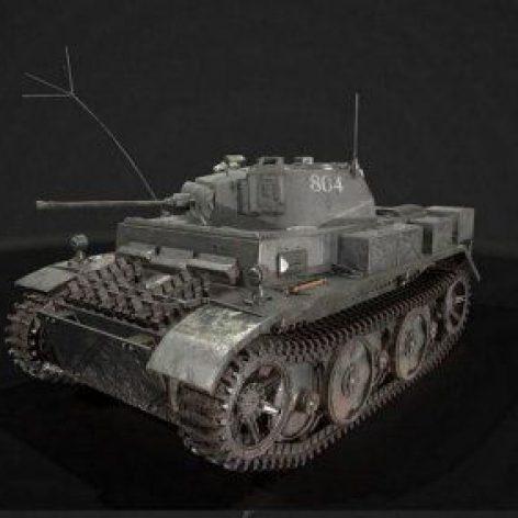 WW2 Tank PzKpfw 2 Ausf L 014 (3ddanlod.ir)