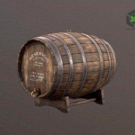 Wine Barrel – 3D Model (3ddanlod.ir)