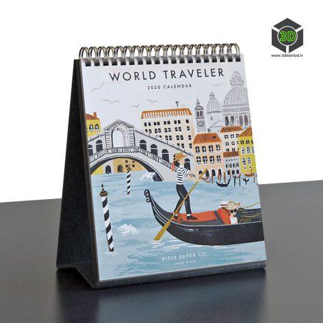 World-Traveler-Desk-Calendar 081 (3ddanlod.ir)