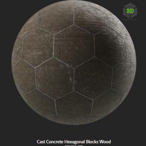 cast_concrete_hexagonal_blocks_wood (3ddanlod.ir)