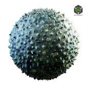 green_creature_skin_with_spikes_32_36_render (3ddanlod.ir)