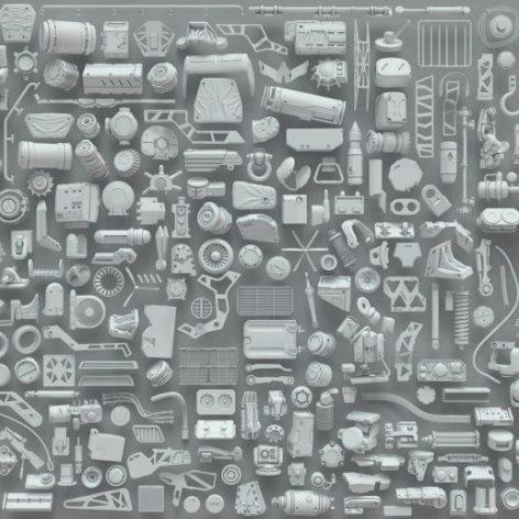 3DExport – 3D Kitbash – 268 metal piece parts 002(3ddanlod.ir)