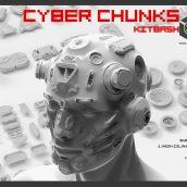 ArtStation Marketplace – Cyber Chunks Kitbash Bundle 004 cover (3ddanlod.ir)