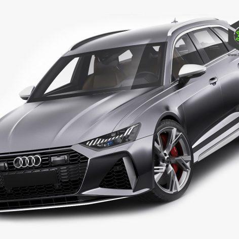 Audi RS6 avant 2020 3D model(3ddanlod.ir) (3)
