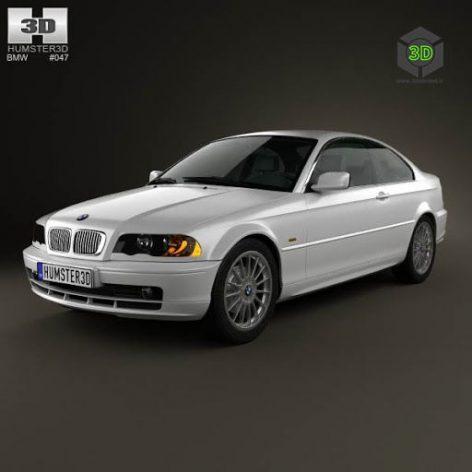 BMW 3 Series coupe (E46) 2004 3D Model(3ddanlod.ir)