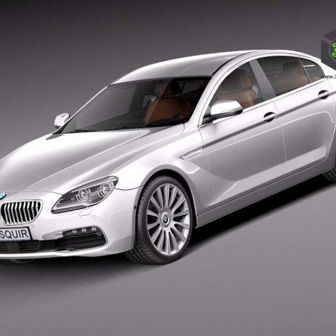 BMW 6-Series Gran Coupe 2015 3D Model(3ddanlod.ir)
