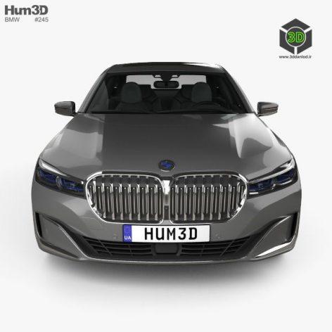BMW 7-series L 2019 3D model(3ddanlod.ir)