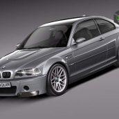 BMW M3 e46 CSL 3D Model (3)(3ddanlod.ir)