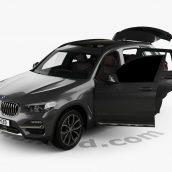 BMW X3 (G01) xLine with HQ interior 2018 3D model(3ddanlod.ir)