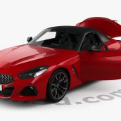 BMW Z4 M40i First Edition roadster with HQ interior 2019 3D model (2)(3ddanlod.ir)
