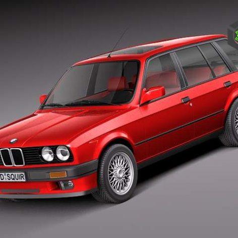 BMW e30 316i Touring 3D Model(3ddanlod.ir)