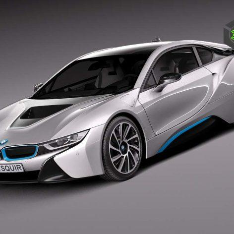 BMW i8 Coupe 2015 3D Model(3ddanlod.ir)