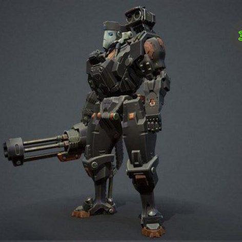 Battle Bot – 3D Model (3ddanlod.ir)