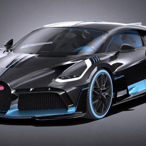 Bugatti DIVO 2019 3D Model(3ddanlod.ir)