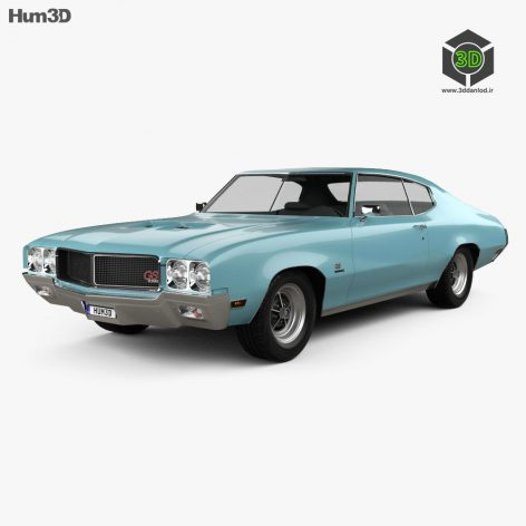 Buick GS 455 Stage 1 coupe 1970 3D model(3ddanlod.ir)
