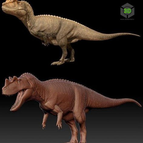 CERATOSAURUS – 3D MODEL (3ddanlod.ir)