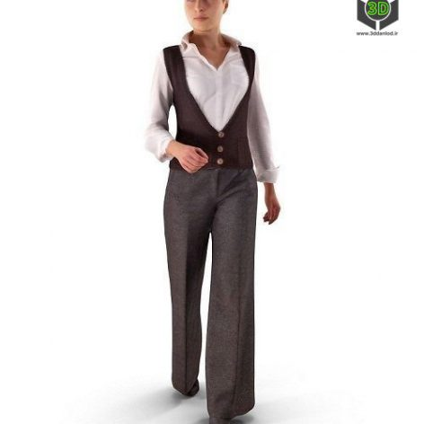 Casual Woman Walking VR - AR - 3D model (3ddanlod.ir)