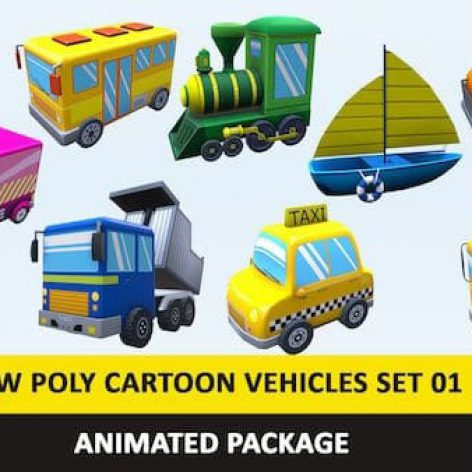 Cgtrader-Animated-Cartoon-Cute-Vehicles-Low-Poly-Pack-01-AR-VR-Games-Low-poly-3D-model (1)