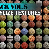 Cgtrader - Stylized Texture Pack - VOL 5 Texture 014(3ddanlod.ir)