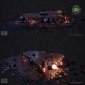 Classic Batmobile 3D Model (3ddanlod.ir)