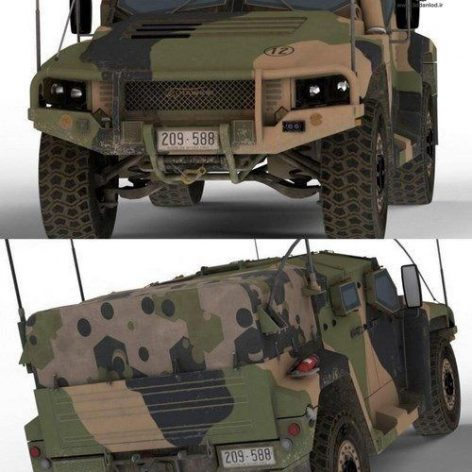 Hawkei Protected Military Vehicle – 3D Model (3ddanlod.ir)