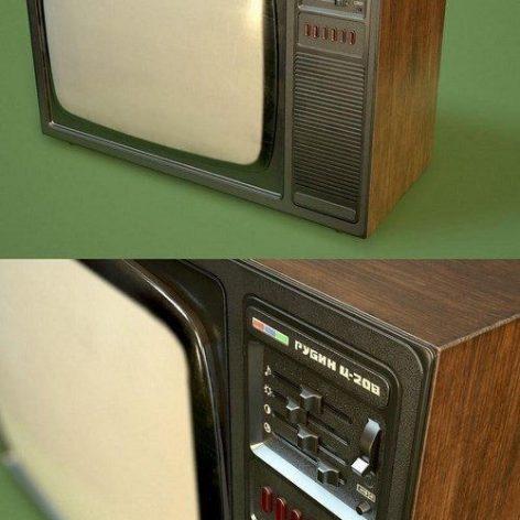 Old USSR TV set – 3D Model (3ddanlod.ir)