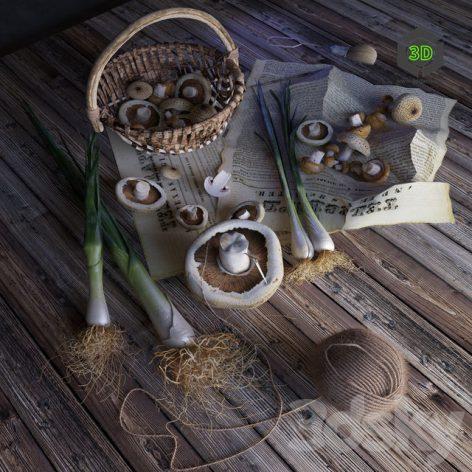 Onions and Mushrooms 076 (3ddanlod.ir)