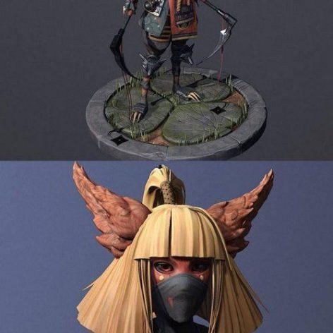 SHINOBI WARRIOR – 3D MODEL (3ddanlod.ir)