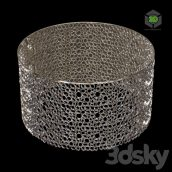 Silver Ring Round Table 078 (3ddanlod.ir)