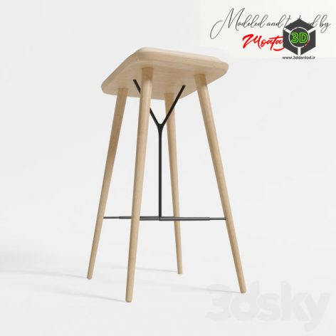 Spine Stool Chair 035 side view (3ddanlod.ir)