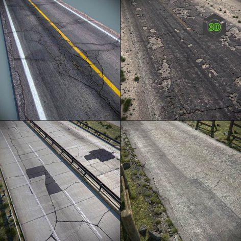 TurboSquid – Detailed Roads Collection001(3ddanlod.ir)