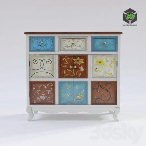 Wood cabinet_CAB26 056 (3ddanlod.ir)