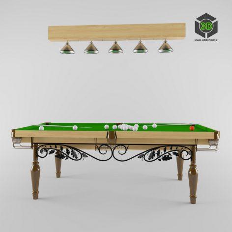 Wrought iron billiard 139 (3ddanlod.ir)