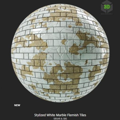 stylized_white_marble_flemish_tiles(3ddanlod.ir)