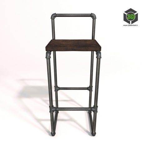 Барный стул Varis 074 (3ddanlod.ir)