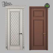 Дверь межкомнатная Фрида D и E от LaPortaBianca 089 (3ddanlod.ir)