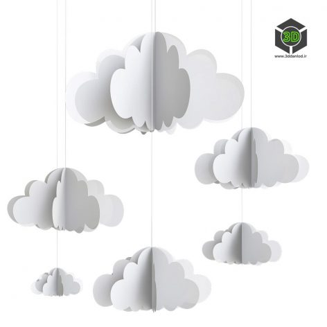 Декоративное облако 227 (3ddanlod.ir)