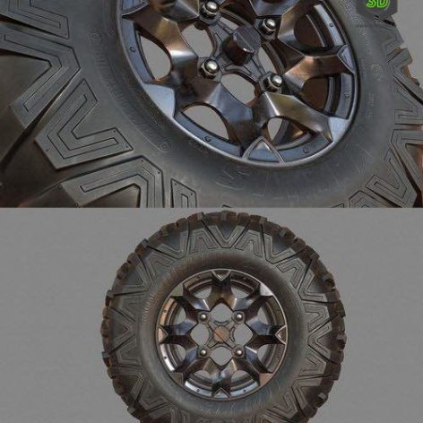 4x4 ATV Wheel – 3D Model (3ddanlod.ir)