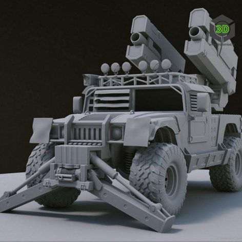 ACV Bulldog – Low Poly 3D Model (3ddanlod.ir)