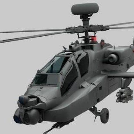 AH-64D Apache 3D Model (3ddanlod.ir)